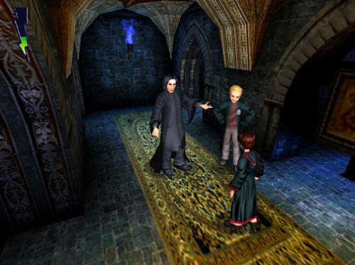 Snape, Draco and Harry (Chamber of Secrets video game)