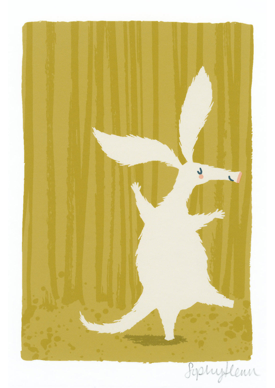 Aardvark (Sophy Henn Patronus on a Postcard)