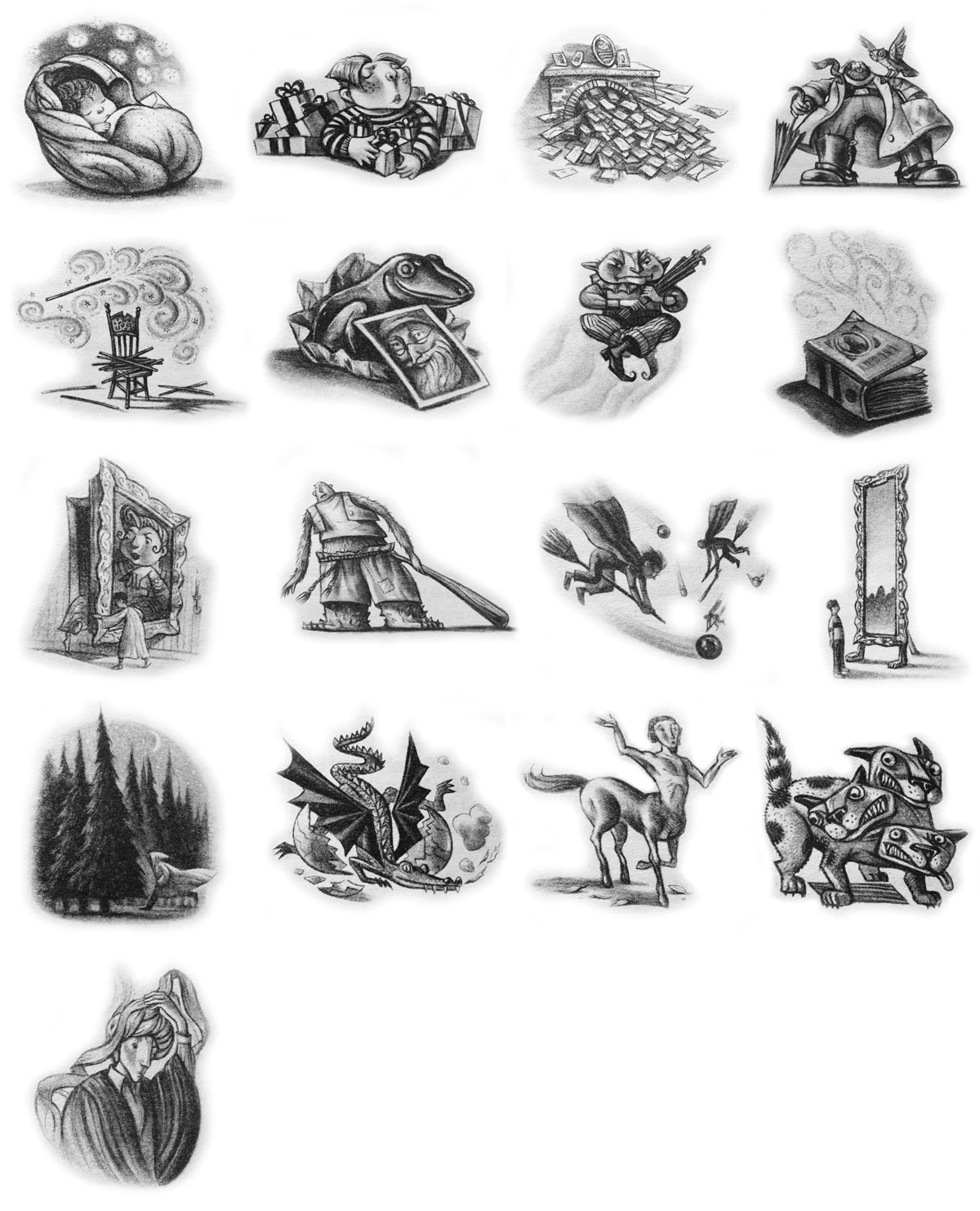 Every 'Philosopher's Stone' chapter illustration.