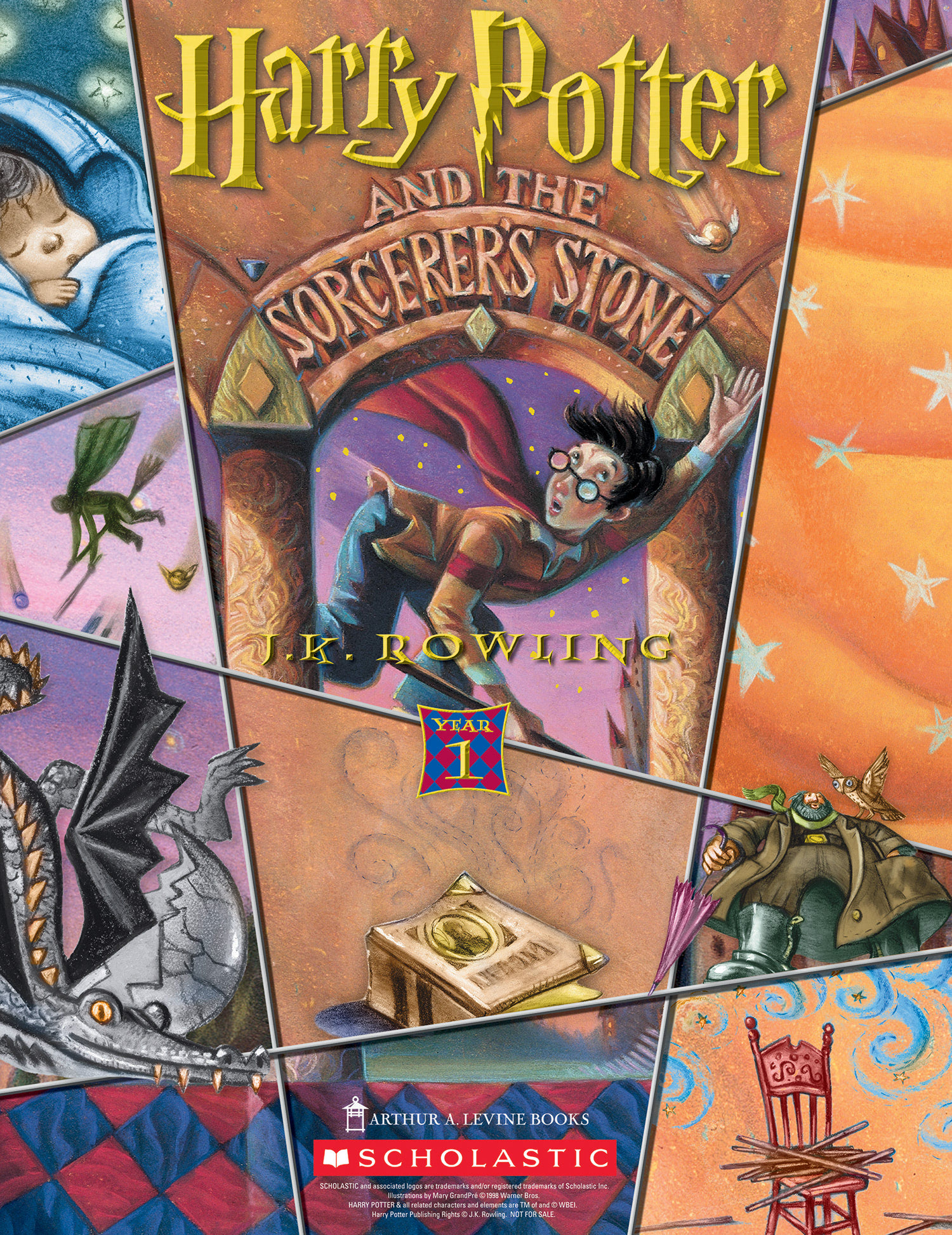 'Sorcerer's Stone' (Year 1) Scholastic promotional poster