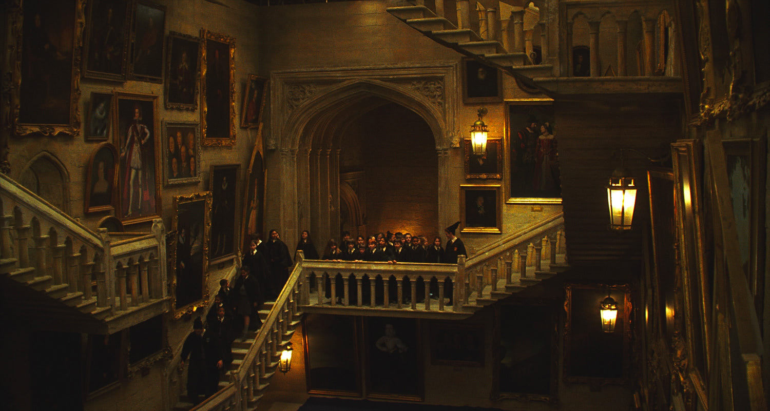 Students on the staircase