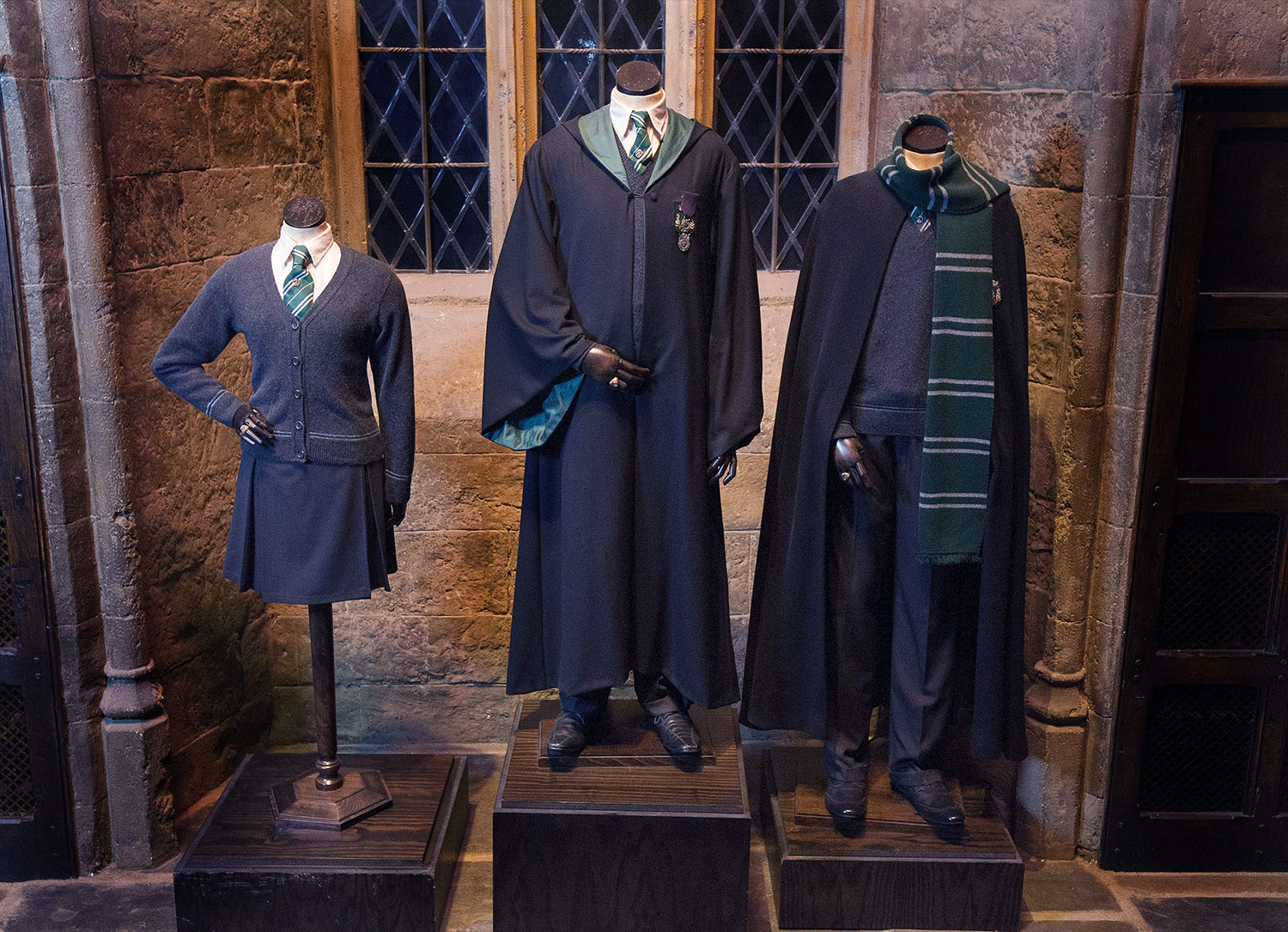 Slytherin robes at the 'Harry Potter' studio tour
