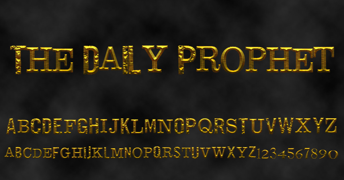Download free 'The Daily Prophet' font