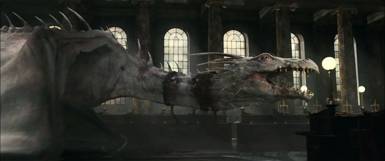 The dragon escapes Gringotts