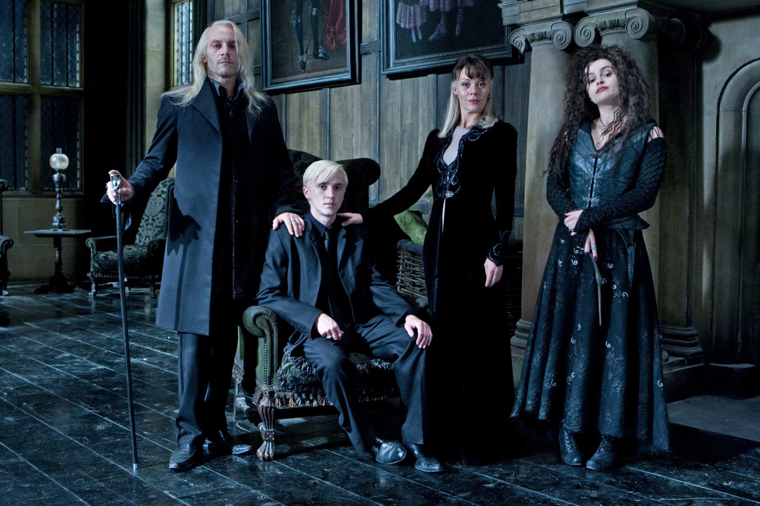 The extended Malfoy family in the Manor