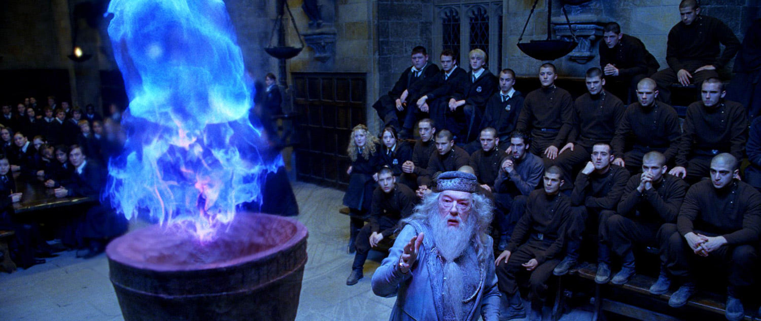 The Goblet of Fire turns blue