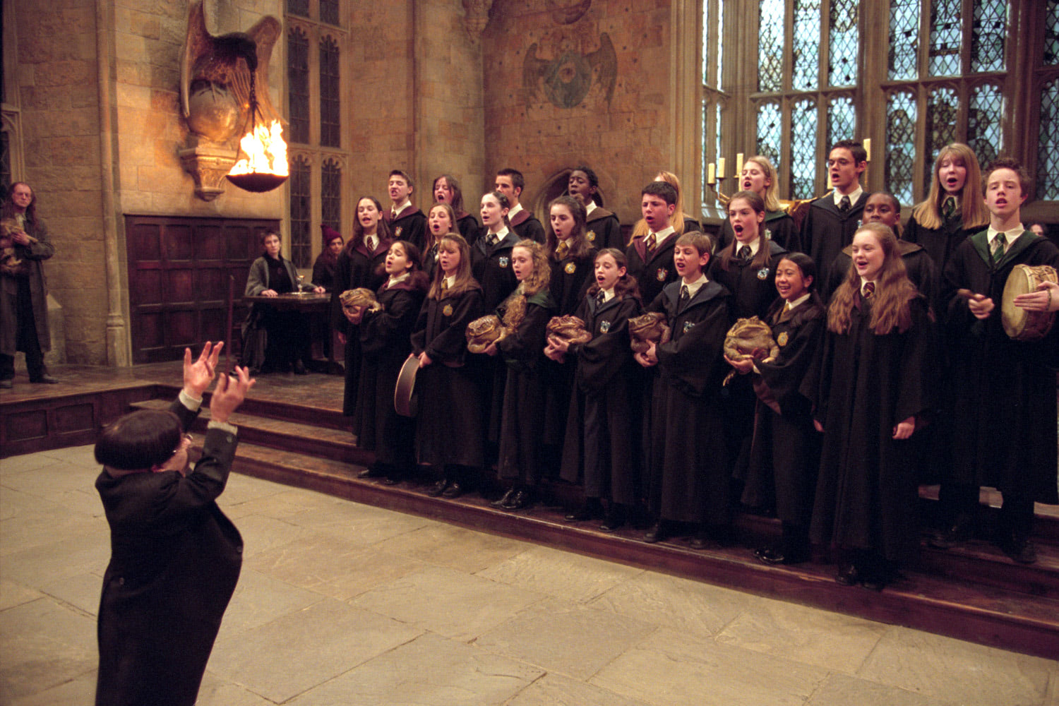 The Hogwarts choir sings
