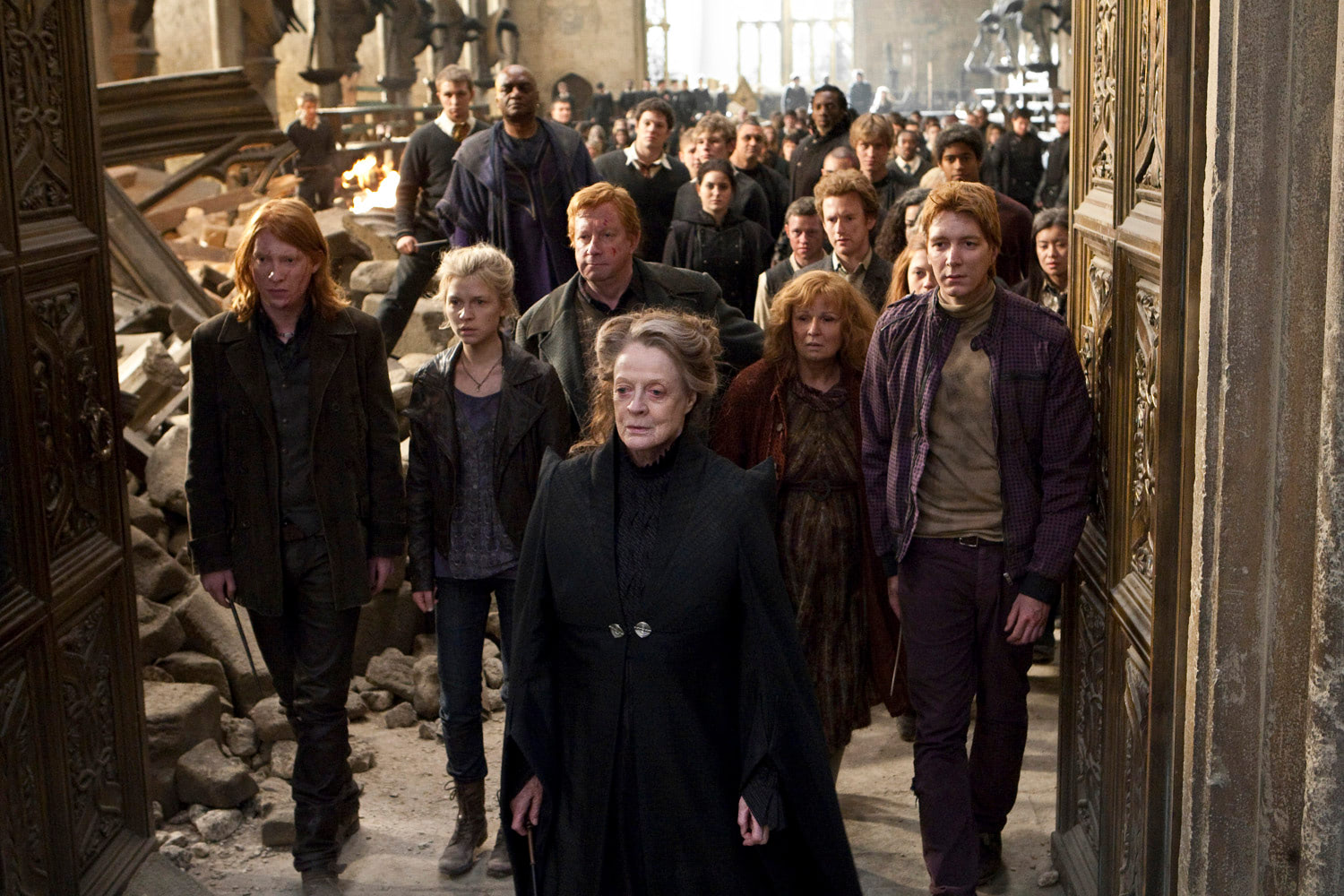 The Order of the Phoenix leave the Great Hall