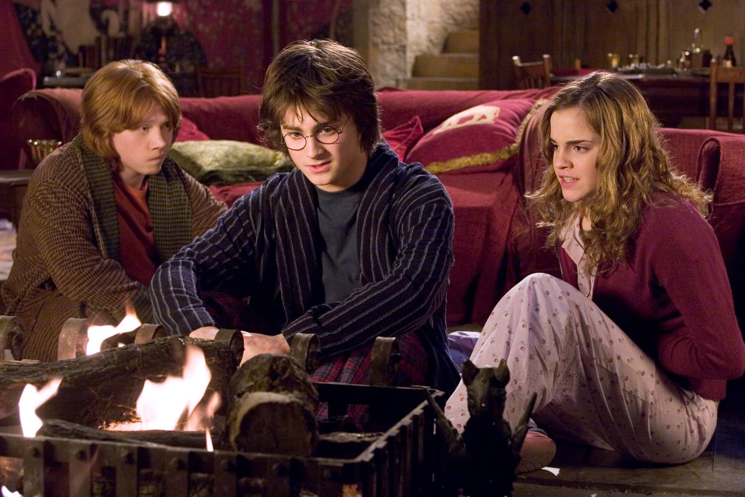 The trio in the Gryffindor Common Room