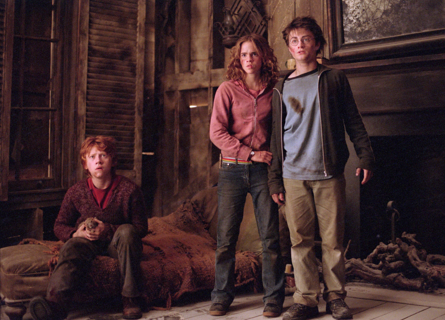 The trio in the Shrieking Shack