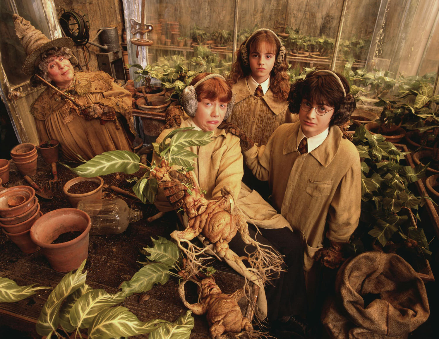 The trio with a Mandrake
