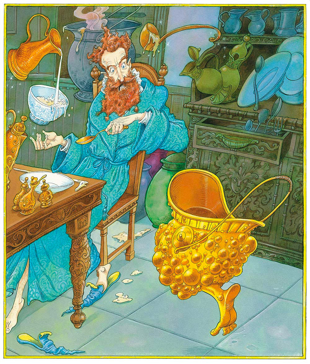 The Wizard and the Hopping Pot (Chris Riddell)