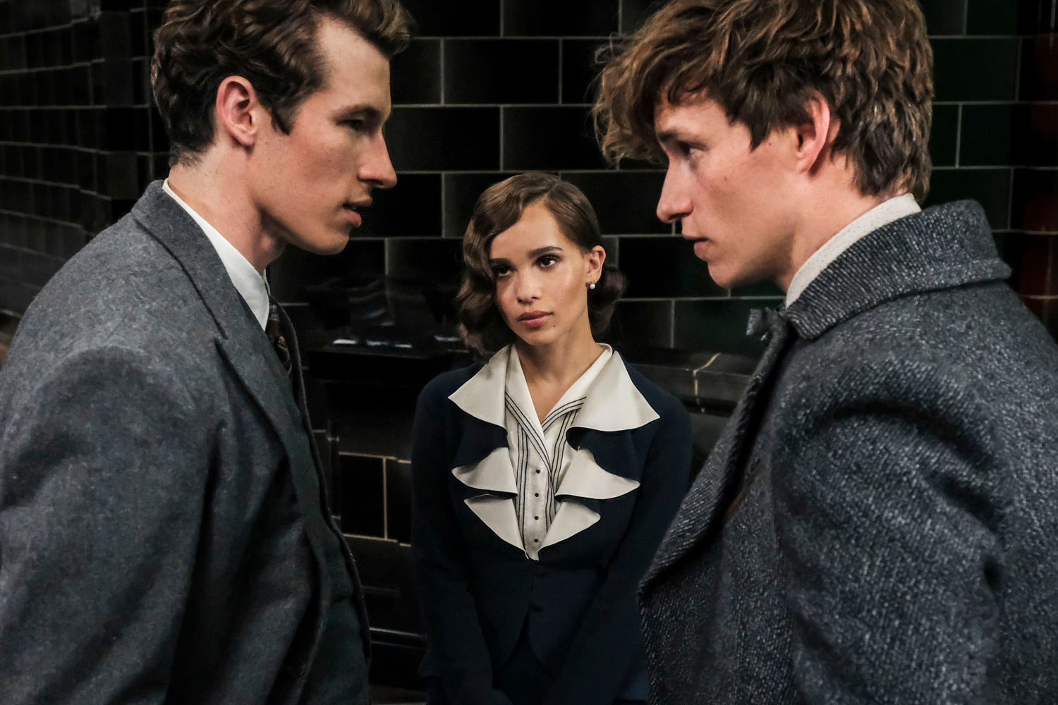 Theseus, Leta and Newt in the Ministry of Magic