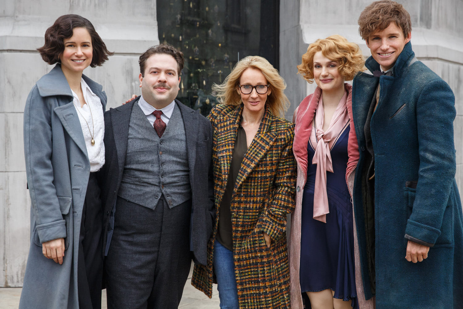 J.K. Rowling and the 'Fantastic Beasts' cast