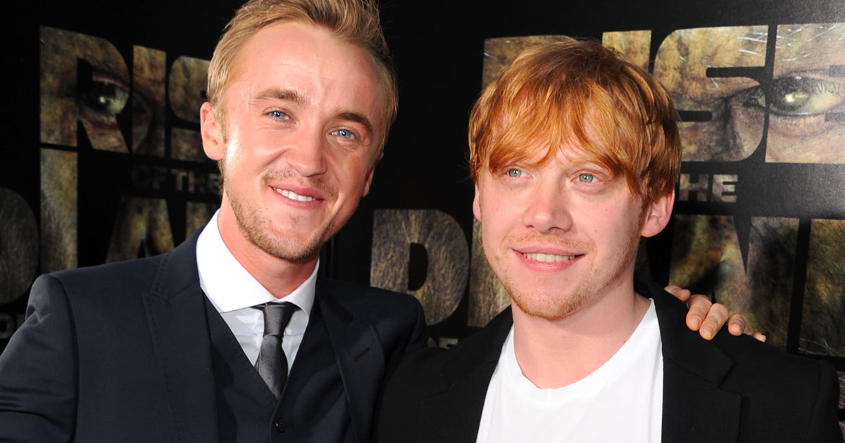 Tom Felton and Rupert Grint look back on memorable 'Harry Potter' moments