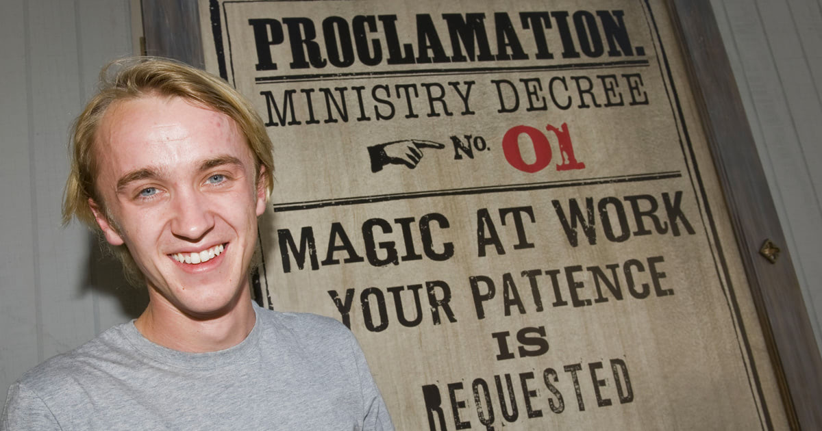 Tom Felton visits Universal Studios in Florida