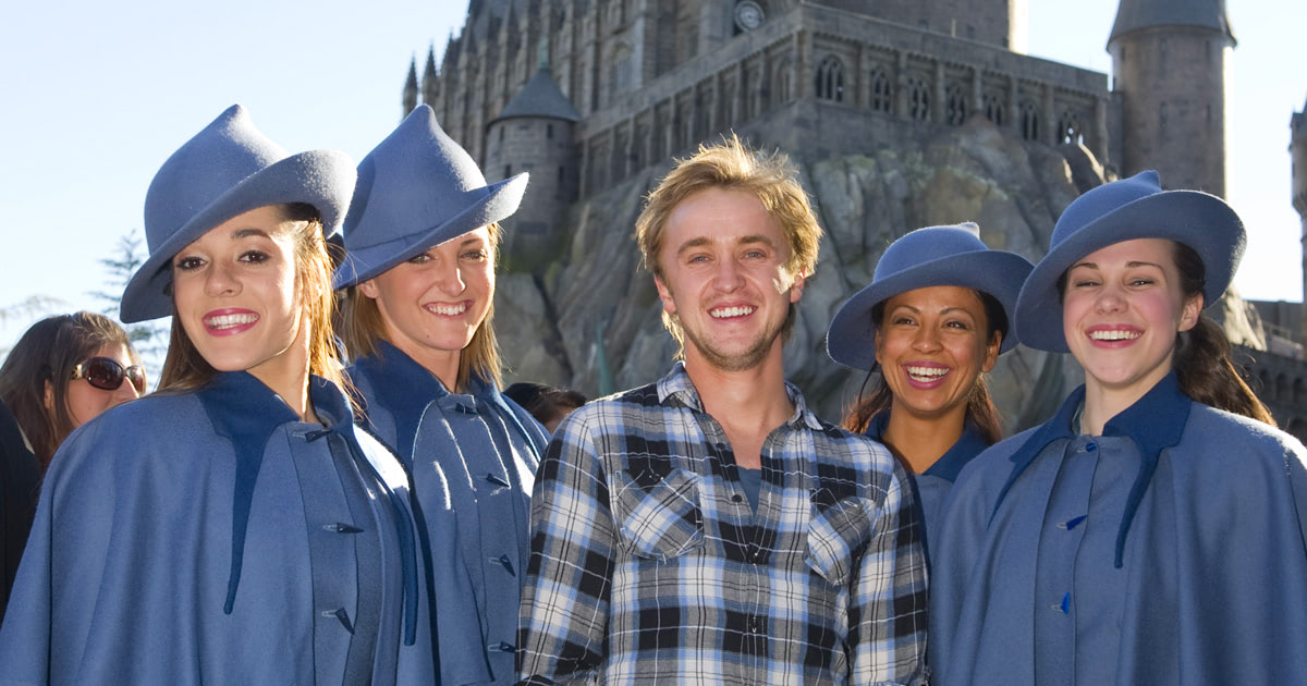 Tom Felton visits 'Wizarding World of Harry Potter' in Florida