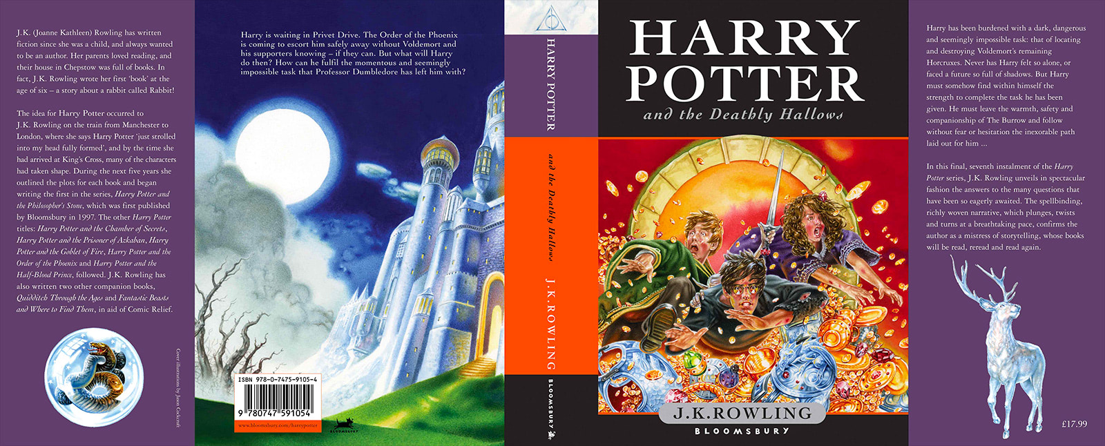 'Deathly Hallows' UK children's edition (full jacket)