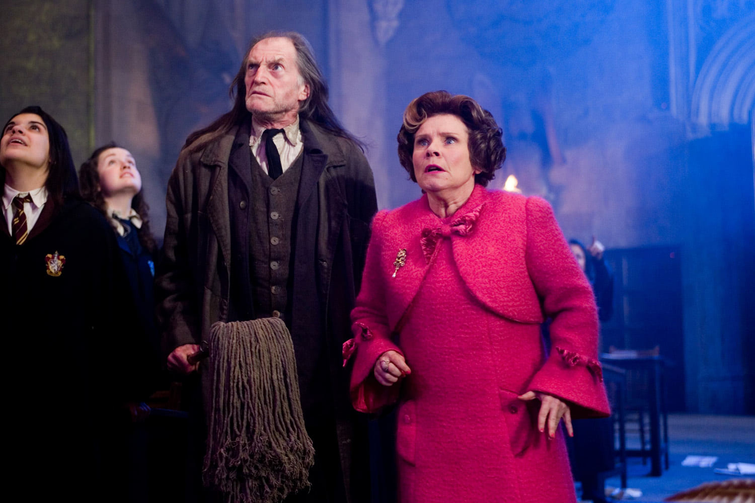 Umbridge and Filch after the firework damage