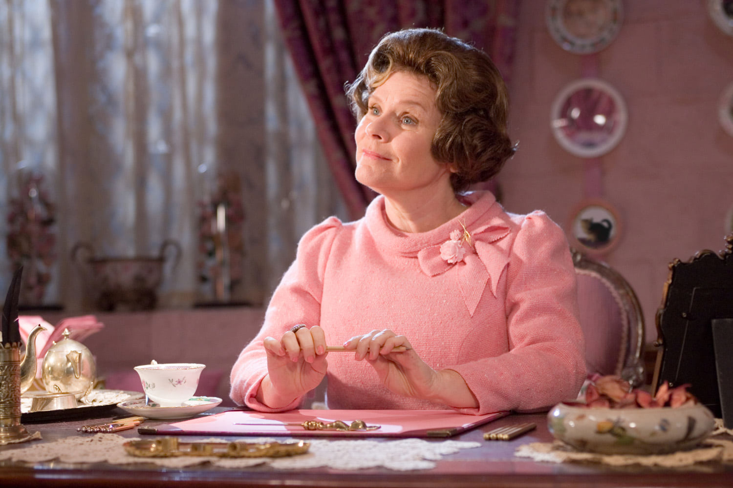 Umbridge at her desk