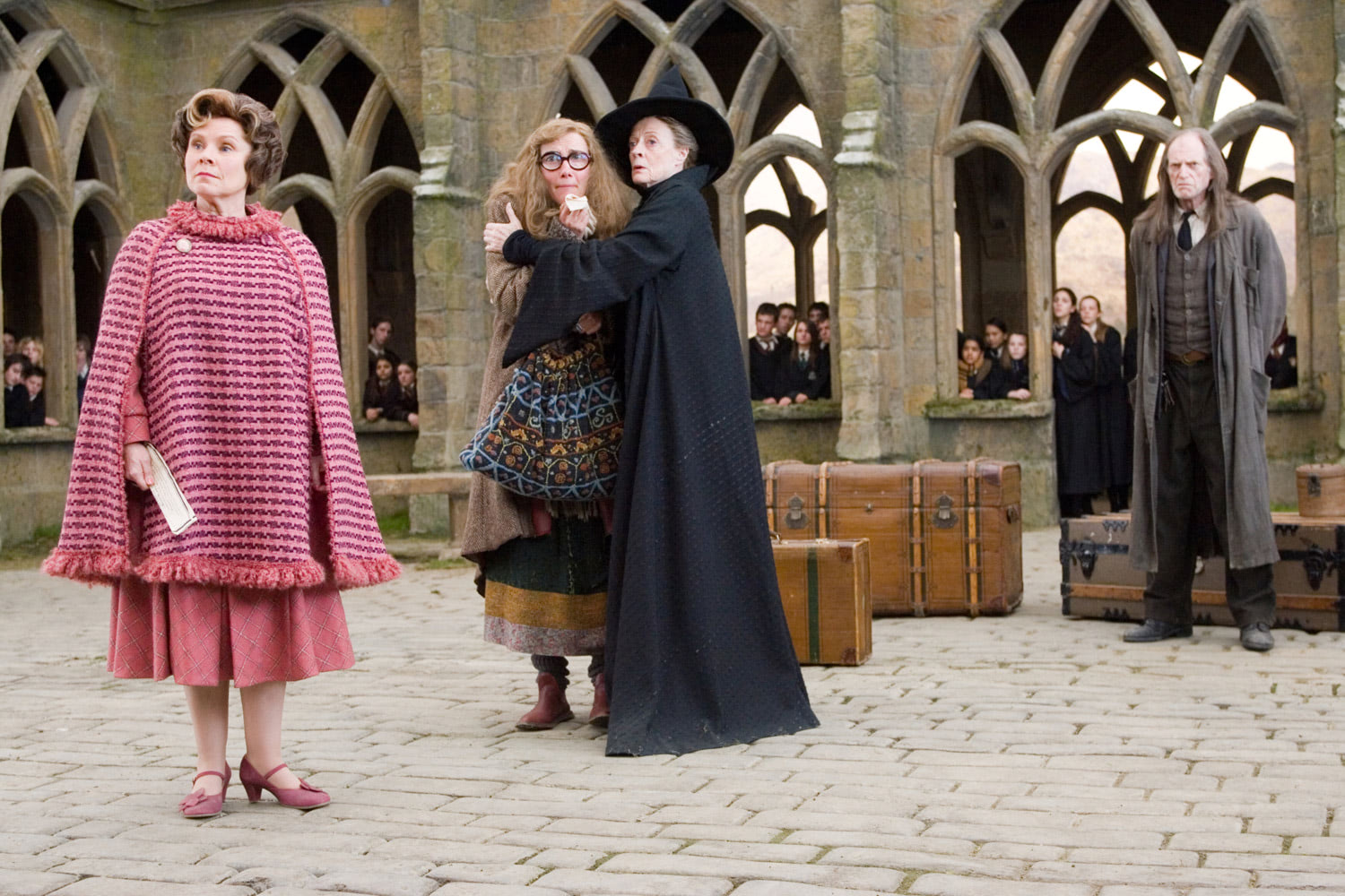 Umbridge, Trelawney, McGonagall and Filch