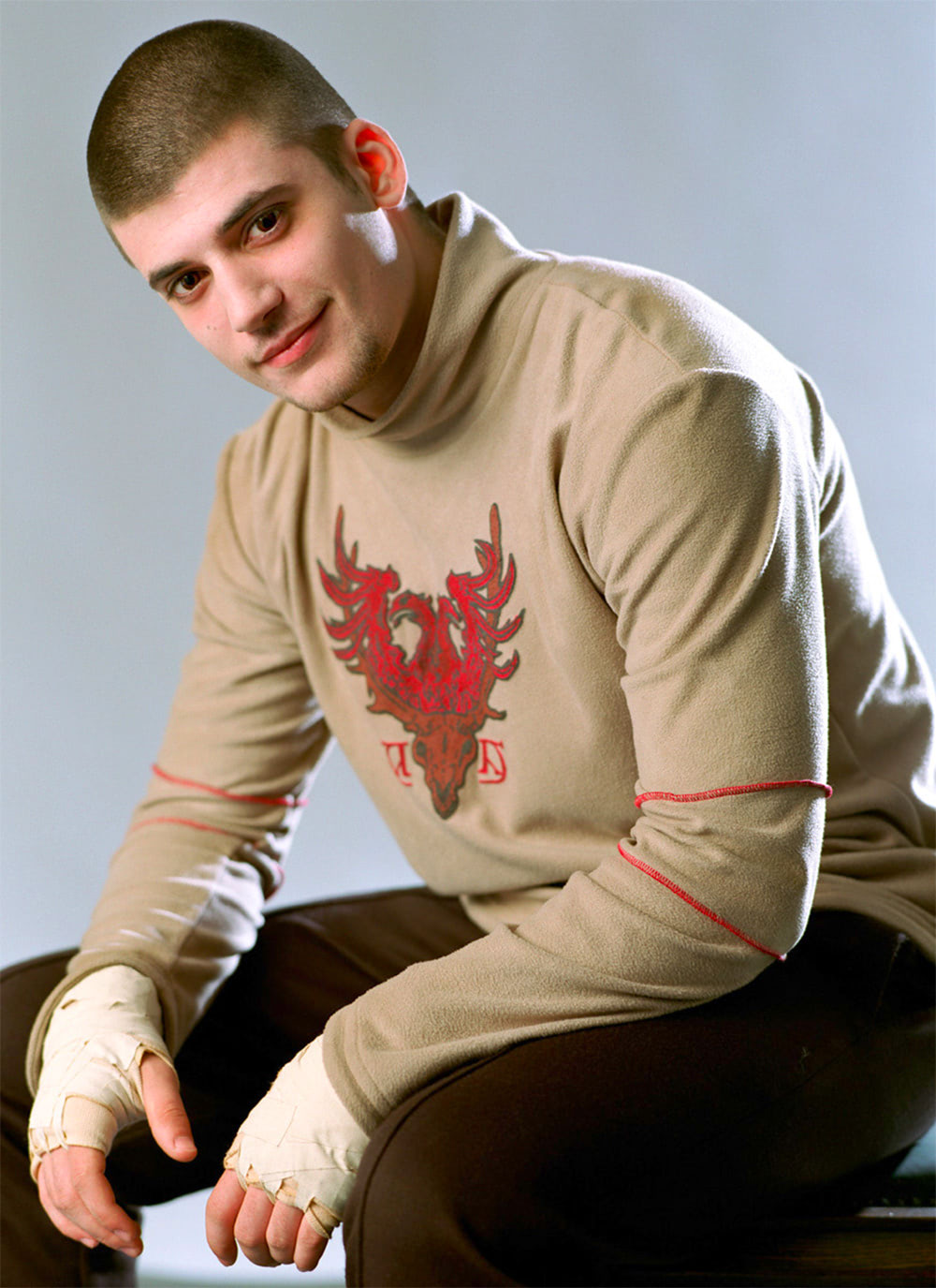 Portrait of Viktor Krum in his Third Task robes