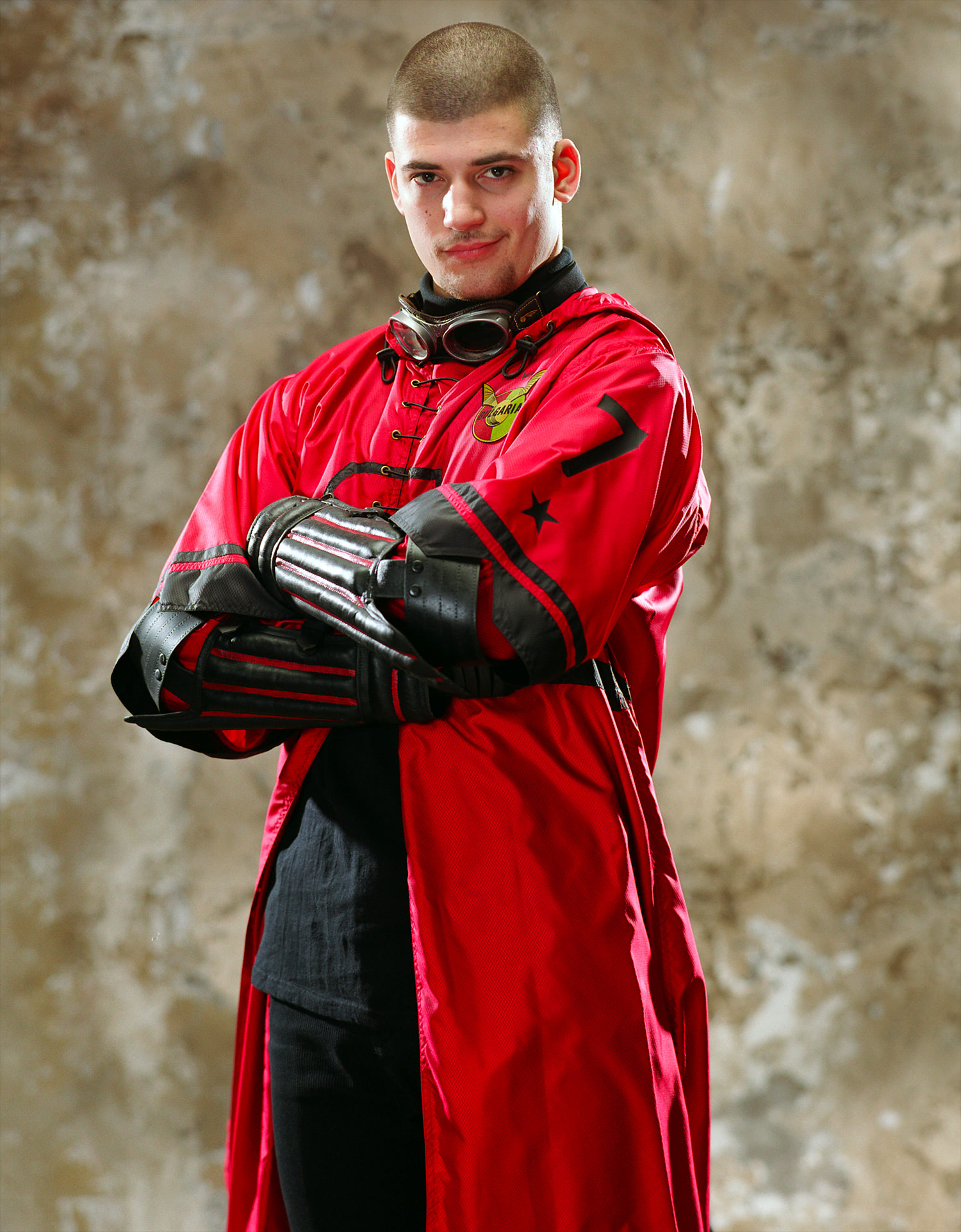 Portrait of Viktor Krum in Quidditch robes