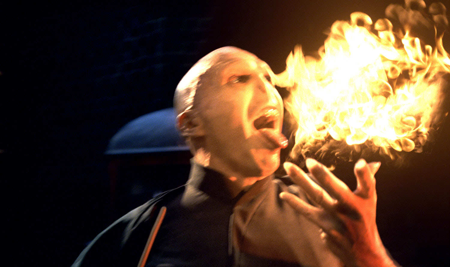 Voldemort breathes fire
