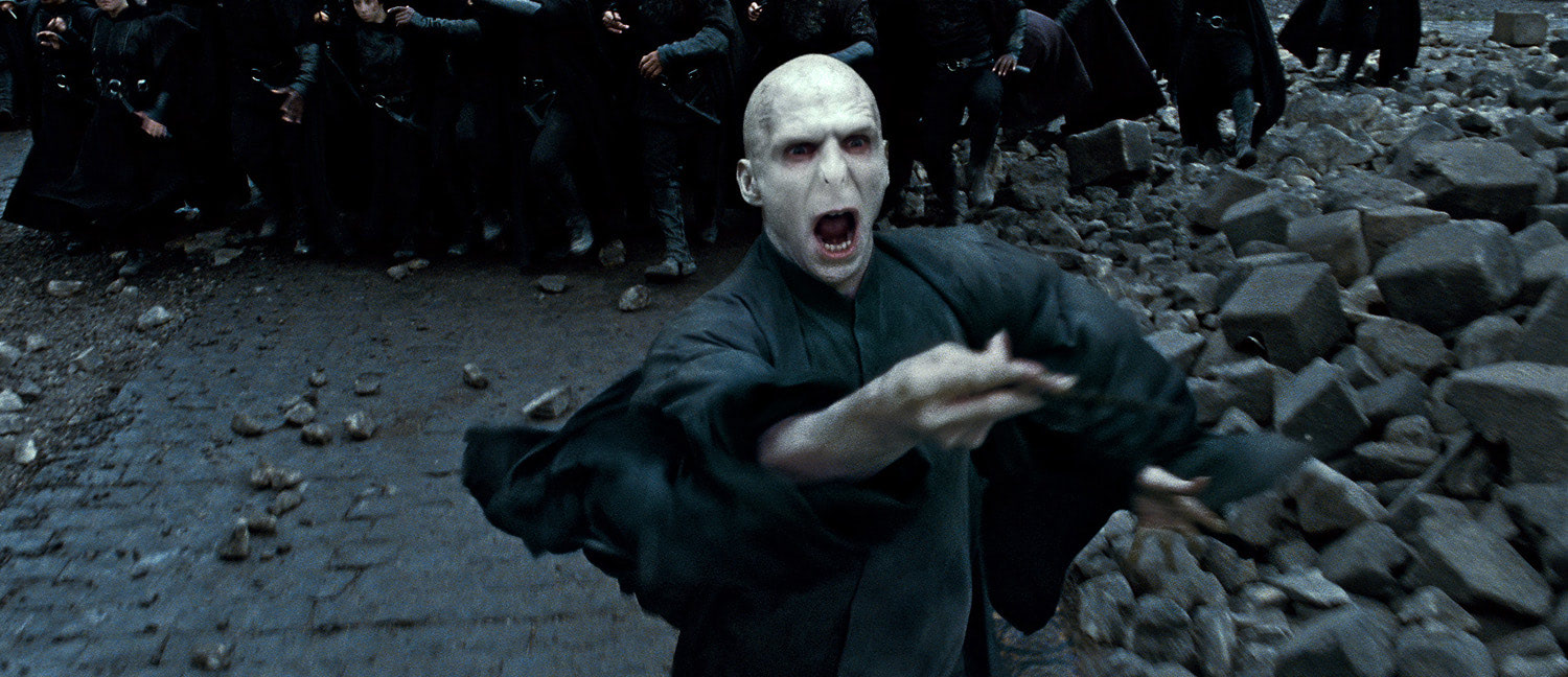 Voldemort during the Battle of Hogwarts