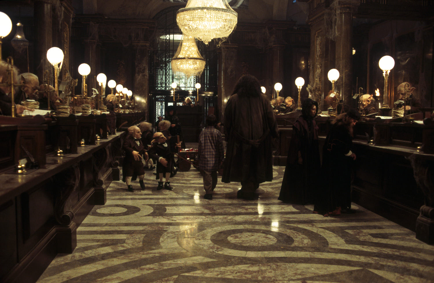 Walking through Gringotts