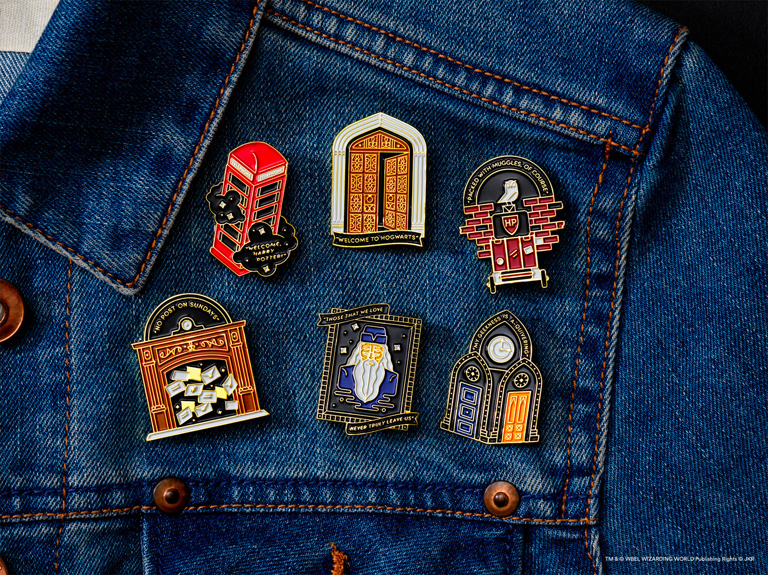 Wizarding World Gold pins