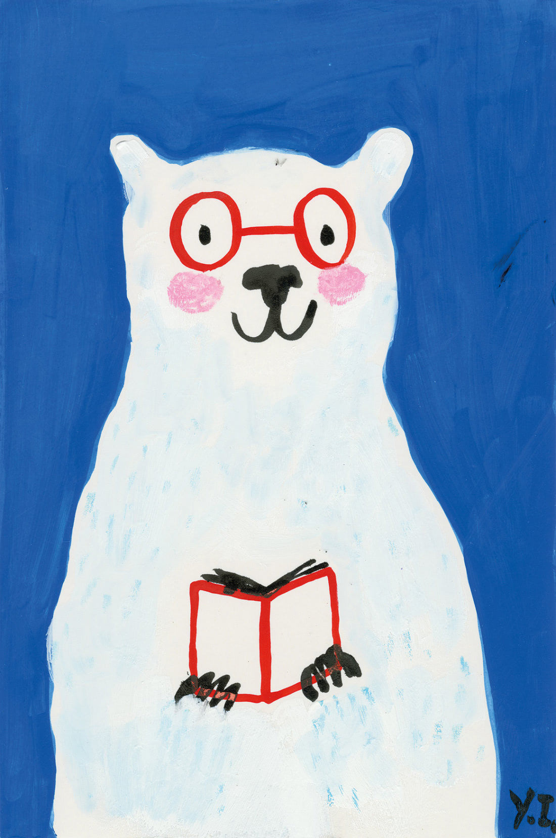 Polar Bear (Yasmeen Ismail Patronus on a Postcard)